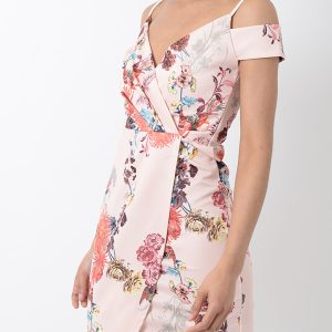 Stylish Floral Wrap Dress