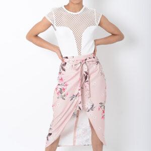 Stylish Floral Wrap Skirt