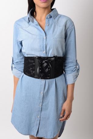 Stylish Lace Detail Corset Belt