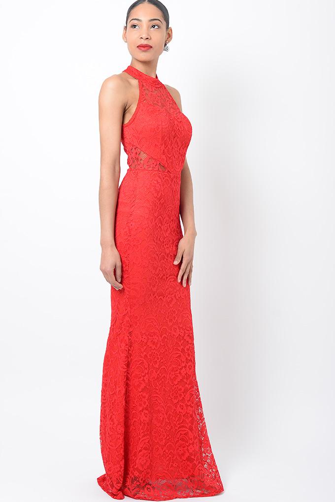 Stylish Lace Red Maxi Dress Stylish Dresses Maxi Dresses