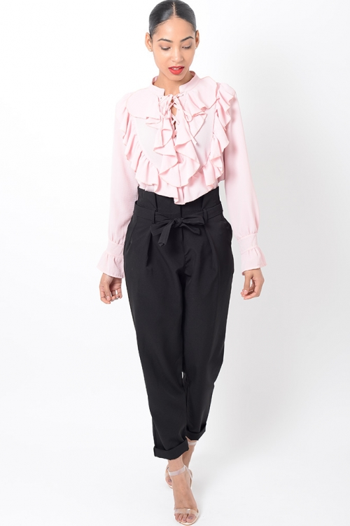 Stylish Long Sleeve Ruffle Top