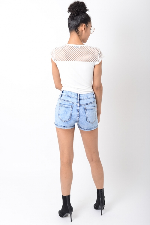 Stylish Mesh White Bodysuit