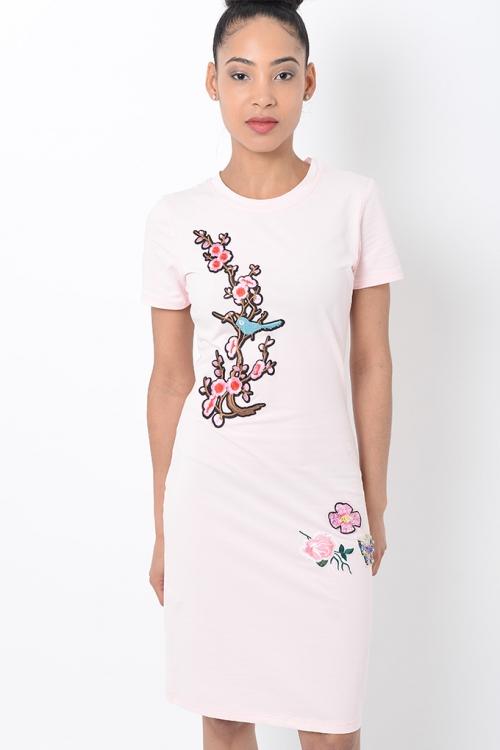Stylish Midi Pink Bodycon Dress