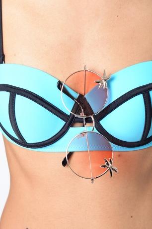 Stylish Orange Lens Round Sunglasses