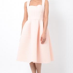 Stylish Peach Midi Skater Dress