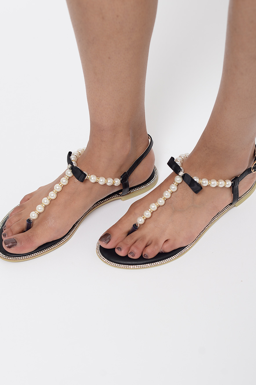 New LookHOT - T-bar sandals - lilac