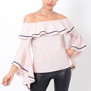 Stylish Pink Bardot Top