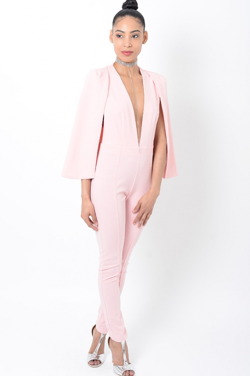 Stylish Pink Jumpsuit
