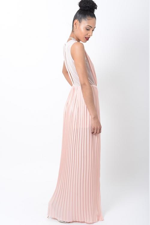 Stylish Pleated Maxi Dress