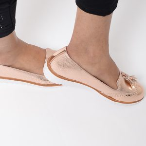 Stylish Rose Gold Tassels Shoes