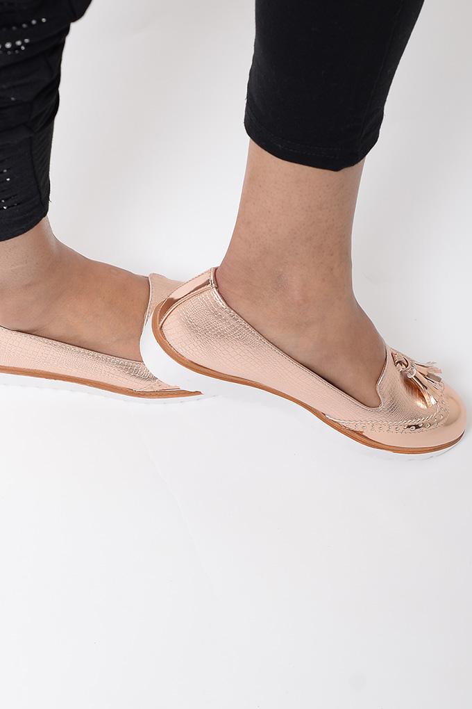 Rose Gold Slip On Shoes