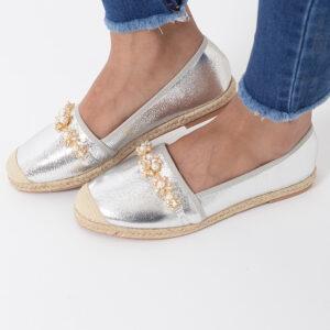 Stylish Silver Espadrilles