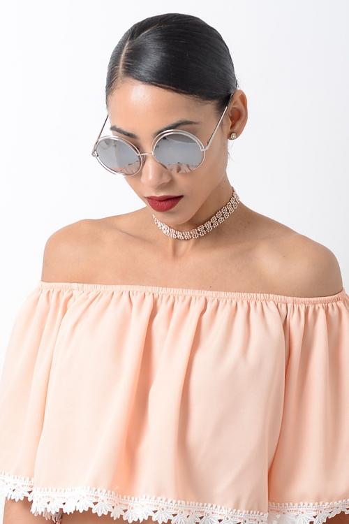 Stylish Silver Mirrored Sunglasses