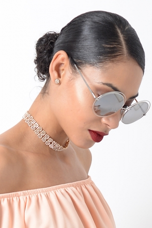 Stylish Silver Mirrored Sunglasses
