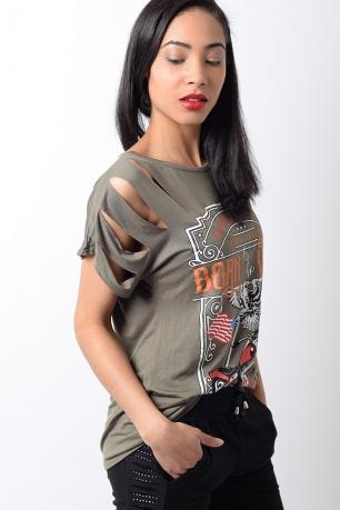 Stylish Slogan Born To Be Wild T-shirt