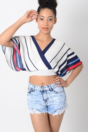 Stylish Striped Crop Top