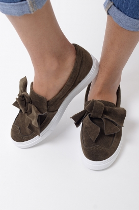 Stylish Suede khaki Trainers