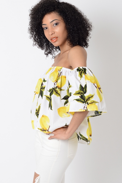 Stylish White Floral Off The Shoulder Top