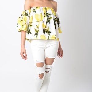 Stylish White Ripped Jeans