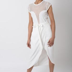 Stylish White Wrap Skirt