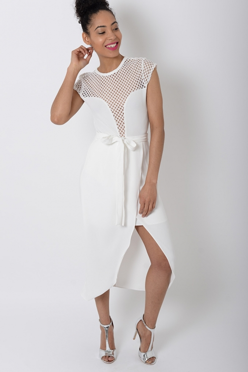 Stylish White Wrap Skirt