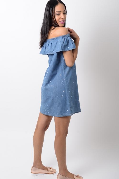 Stylish Denim Shift Dress