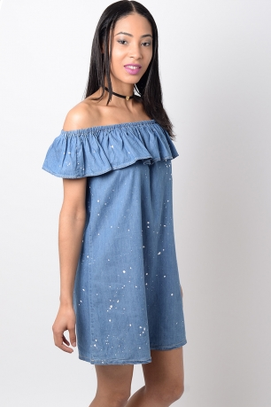 Stylish Denim Shift Dress