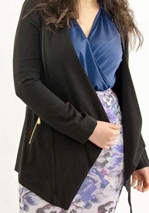 Stylish Blazer With Zip Pocket