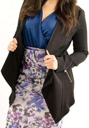 Stylish Blazer With Zip Pocket