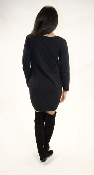 Stylish Long Sleeves T-shirt Dress
