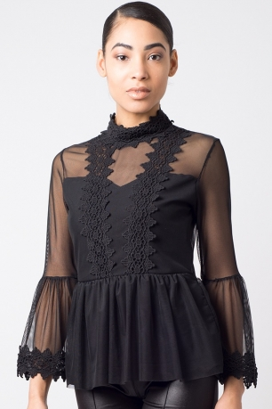 Stylish Frill Lace Top