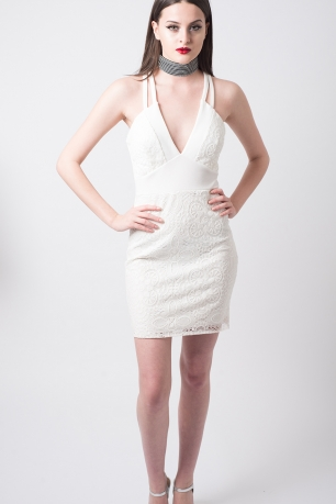 Stylish Plunge Mini Bodycon