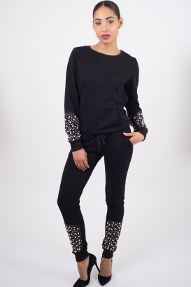 Stylish Pearl Detail Tracksuit
