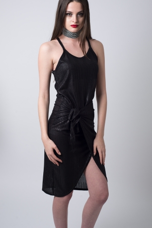 Stylish Wrap Front Cami Dress