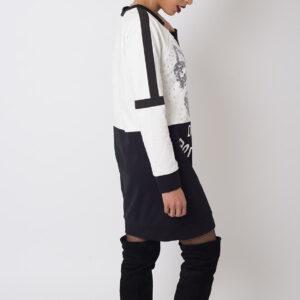 Stylish Monochrome Jumper Dress