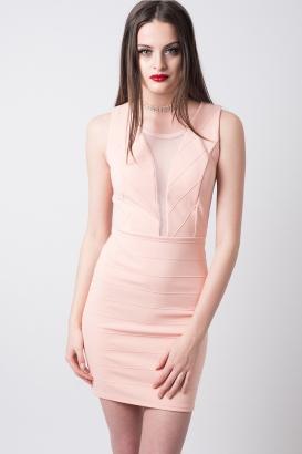 Stylish Lace Detail Bodycon Dress