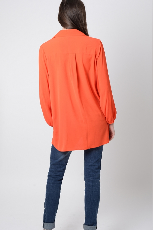 Stylish Lace-up Long Sleeve Top