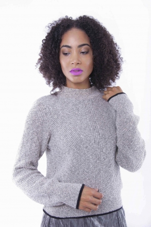 Stylish High Neck Knit Jumper
