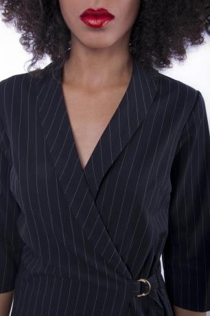 Stylish Stripe Wrap Dress