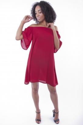 Stylish Off The Shoulder Mini Dress