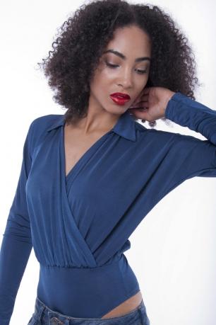 Stylish Wrap Front Bodysuit
