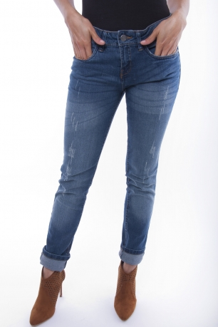 Stylish Mid Rise Slim Jeans