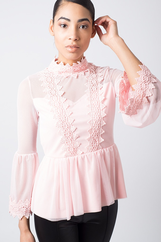 Stylish Frill Lace Top Stylish Tops Lace Tops Blouses