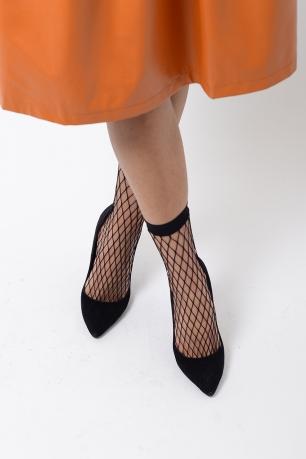 Stylish Black Fishnet Socks