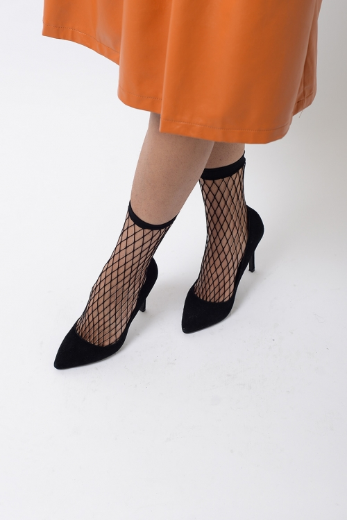 Stylish Black Fishnet Socks