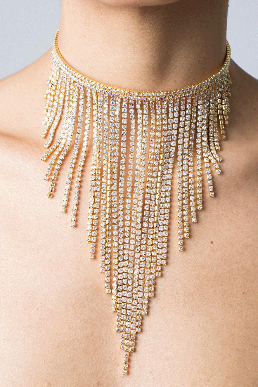 2c0c6b62d2 Stylish Crystal Sparkle Choker - Shop H&S Diamond Chokers
