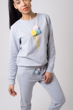 Stylish Grey Loungewear Set