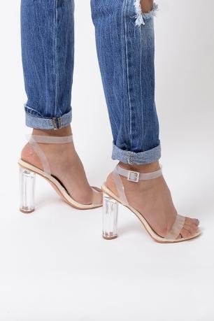 Stylish Nude High Heel Sandals