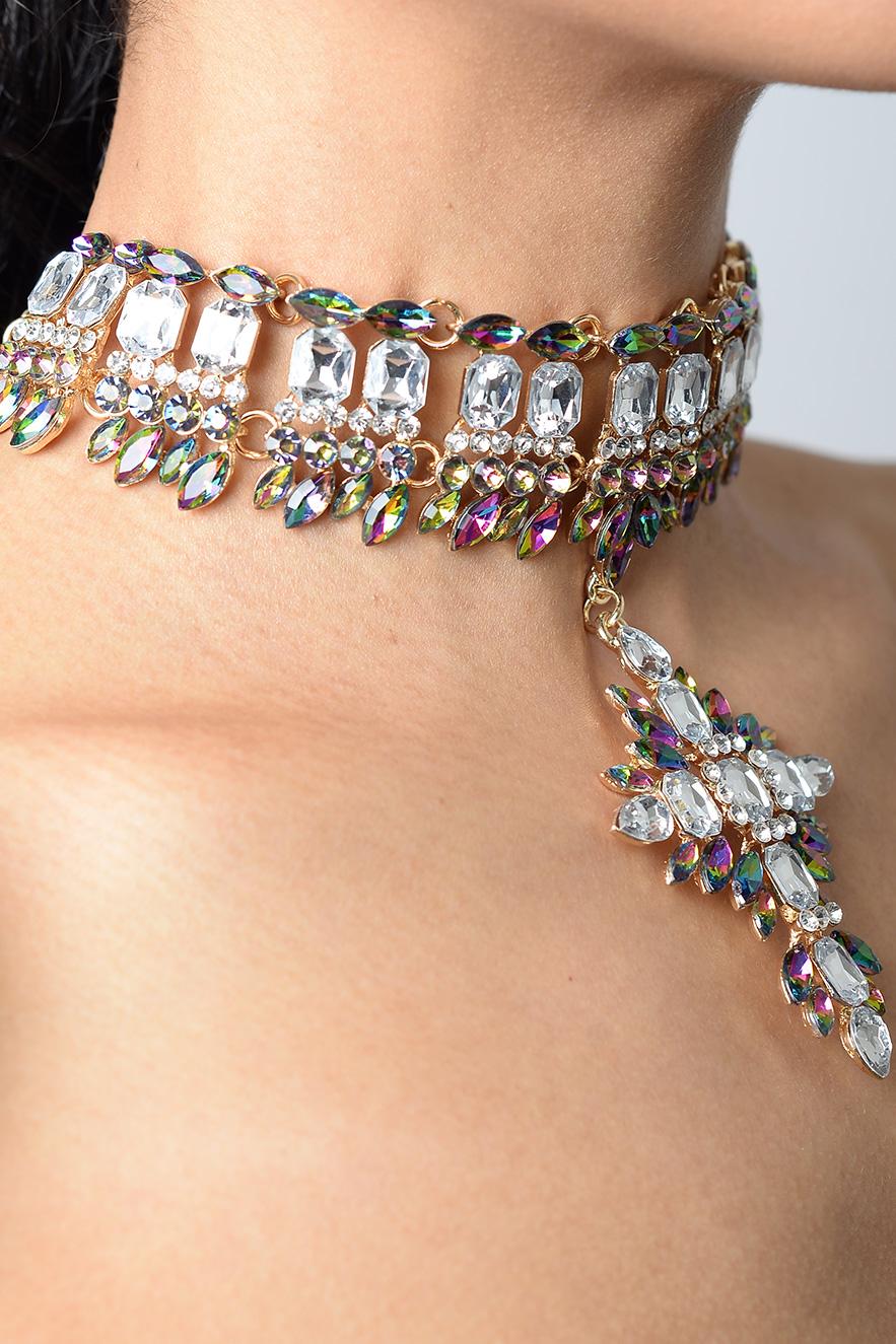 1cb74a6cd5 Stylish Premium Crystal Drop Choker | Diamond Choker, Gold Choker