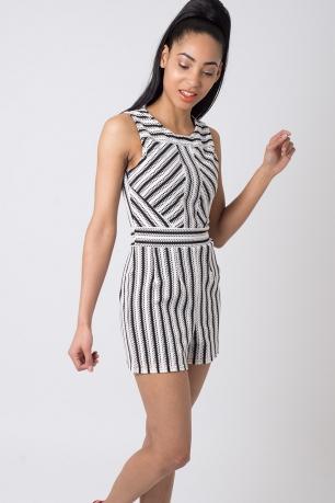 Stylish Striped Playsuit